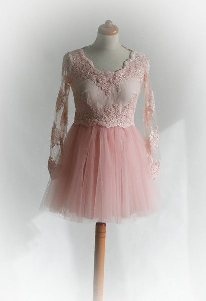 DIANA- sukienka tiulowa z koronką  - MatMari - Suknie wieczorowe