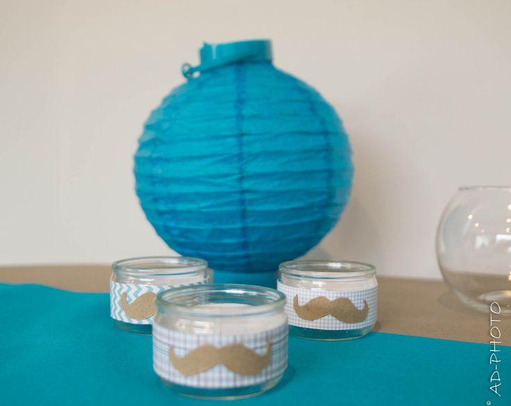 DIY : Photophore moustache - Baptême, Anniversaire, Mariage