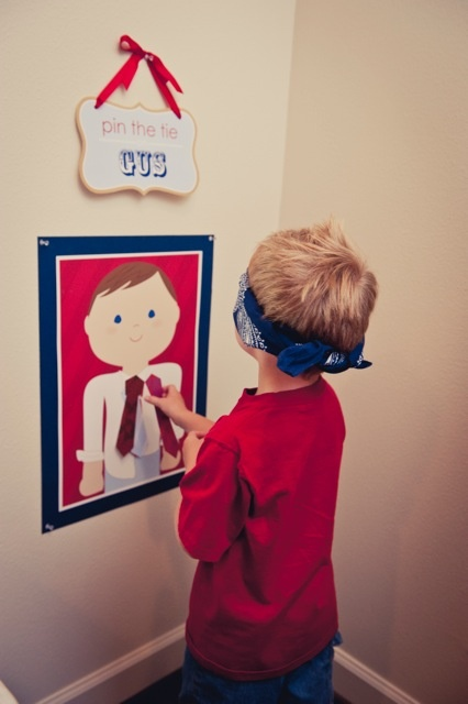 "I love this idea for the little ones - ""Pin the Tie"" Game"