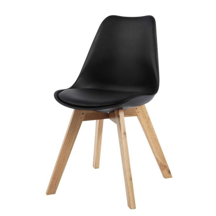 Schwarzer Skandinavischer Stuhl Mit Eiche Ice Skandinavische Stuhle Eichenstuhle Stuhl Eiche