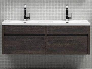 59 solstice double wall mounted vanity modern for Bathroom vanities in san diego