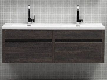 59 solstice double wall mounted vanity modern bathroom vanities and sink consoles san for Bathroom vanities san diego
