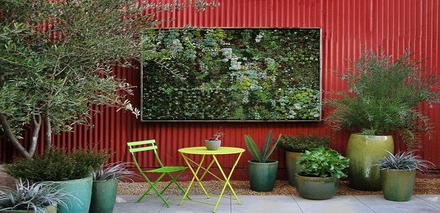 Fence Decor Ideas with Vertical Wall Garden Art and Decorative Fence Panels with Backyard Fence Decorating Ideas