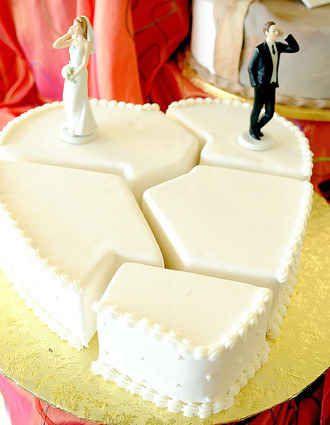 O coração é uma ilha solitária | 24 bolos de divórcio hilários que são até melhores do que bolos de casamento