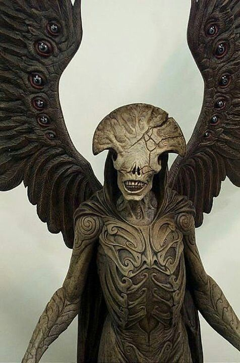 Angel of Death from HellBoy - - absolutely FANTASTIC wings, this pic doesn't do them justice.  In the movie they're double wings, plus the eyes all move.