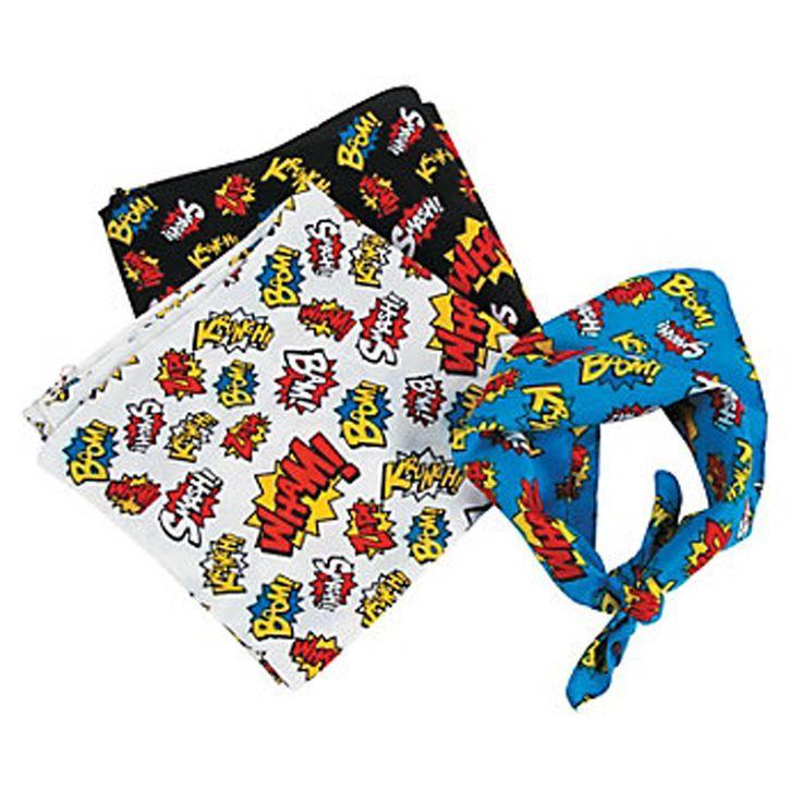 SUPERHERO PARTY ~ Superhero Bandanna x 1 | eBay