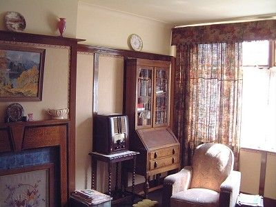 Living room, reconstruction for Channel 4 series 'The 1940's House'.                                                                                                                                                                                 More