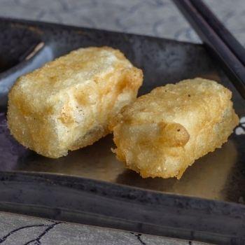 Buñuelos de trigo sarraceno y tofu ahumado
