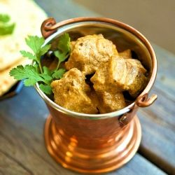 A royal Indian recipe for a goat/mutton curry. Mild, creamy, rich and fragrant with hints of spice, slow cooked for fork tender meat.