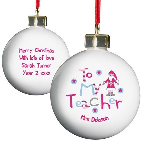 Personalised Christmas Bauble - Female Teacher  from Personalised Gifts Shop - ONLY £9.99