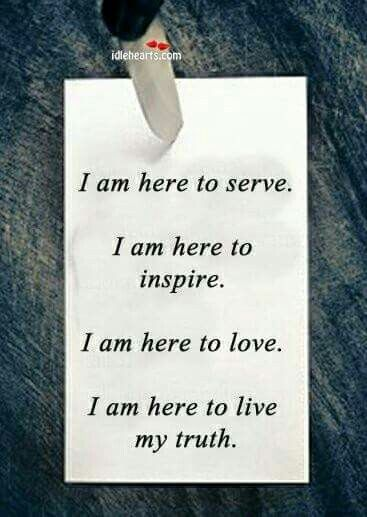 I am here to live my truth!