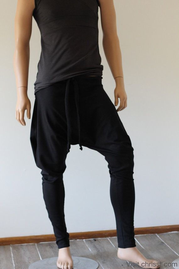 A personal favourite from my Etsy shop https://www.etsy.com/au/listing/270303772/black-drop-crotch-pants-yoga-track-suit