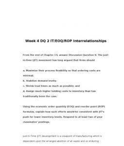BUS307   BUS 307   Week 4 DQ 2 IT EOQ ROP Interrelationships --> http://www.scribd.com/doc/155157127/bus307-bus-307-week-4-dq-2-it-eoq-rop-interrelationships