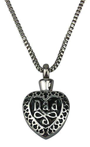 Love to Treasure Vintage Style Urn Pendant - Memorial Ash Keepsake - Cremation Jewellery LVJ9R5PX