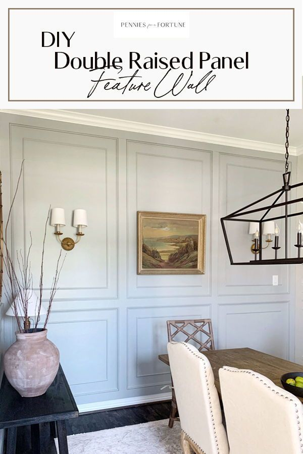 Diy Double Raised Panel Wall Moulding Wall Molding Living Room Accent Walls In Living Room Dining Room Accents