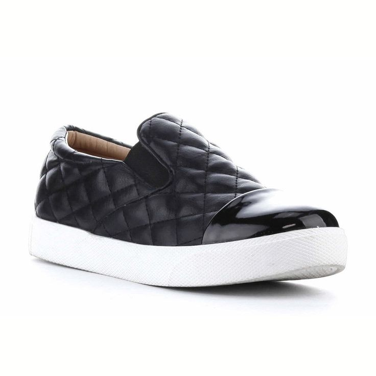 Trendy Must Have Slip-on Quilt Top Patent Cap Sneakers Black All size, US Seller #CapeRobbin #PlatformSneakers #Casual