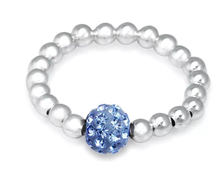 Baby Blue Shambala Bling Ring