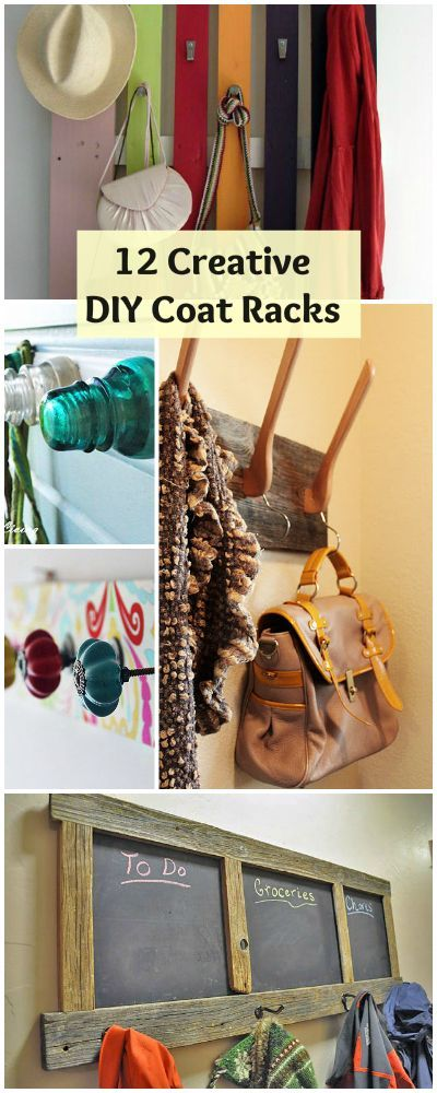 12 creative diy coat racks clearance sale creative and for Creative ideas for coat racks