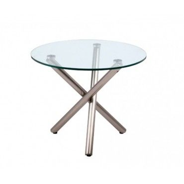 side tables for office. modern round clear glass and chrome side table luxor tables for office a