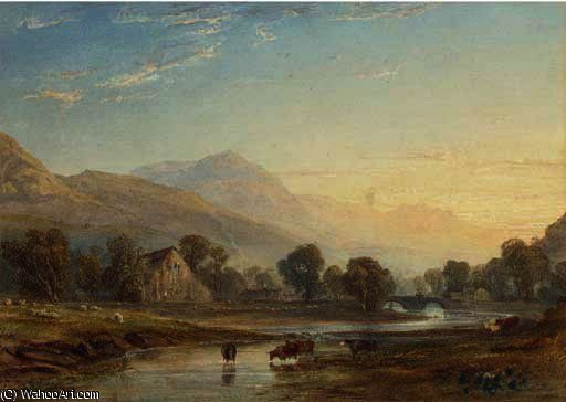 Sur le pays de galles, du nord Glaslyn de Anthony Vandyke Copley Fielding (1787-1855, United Kingdom)