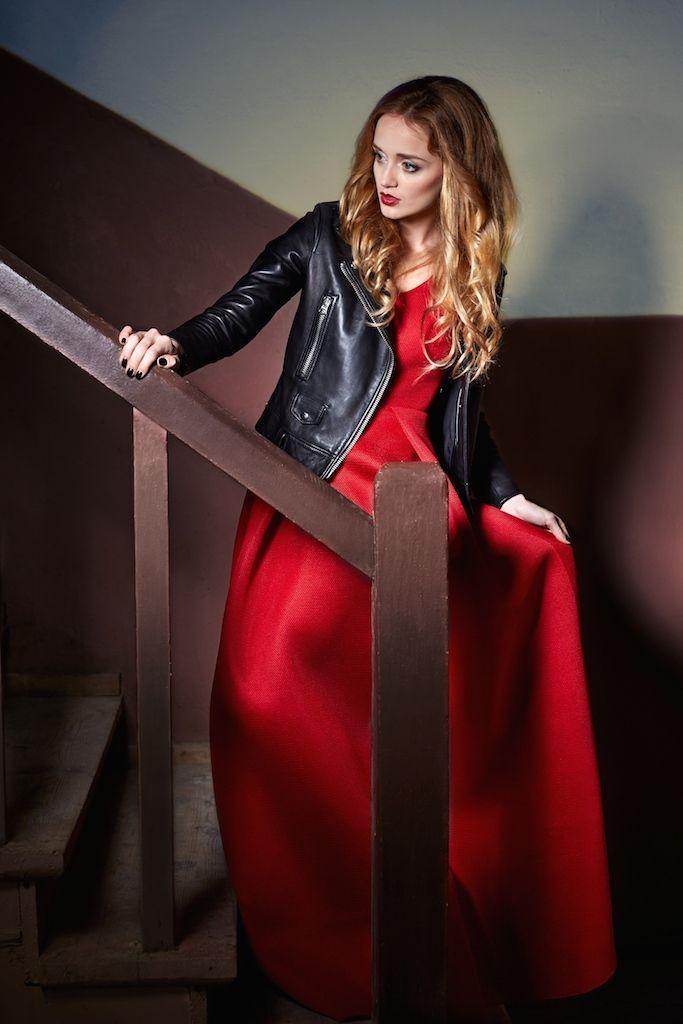 Kornelia in red dress from Sylwia Majdan