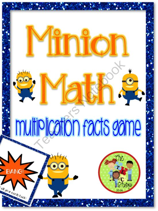 Minion Math - Multiplication Facts Game from The T.L.C. Shop on TeachersNotebook.com -  (16 pages)  - A fun Multiplication Facts BANG game with Minion cuties!