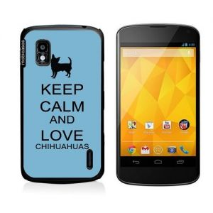Keep Calm And Love Chihuahuas Aqua Google Nexus 4 Case - For Nexus 4. Truly unique Google Nexus 4 case that offers ultimate protection and adds style to your Google Nexus phone. Compatible with Google Nexus 4 our universal custom Google Nexus 4 cases offer the perfect fit for your phone no matter your service carrier. Compatible with Google Nexus 4 This lightweight and durable custom case allows easy access to all sensors ports and controls on your Google Nexus 4 while offering superior…