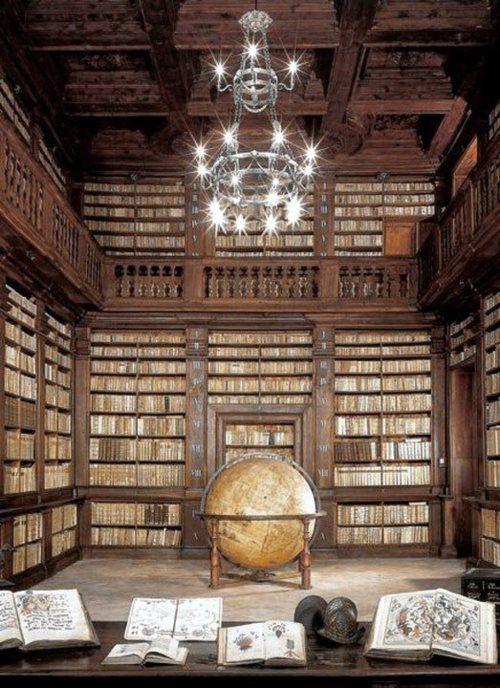 * Fermo civic library, Sala del mappamondo *