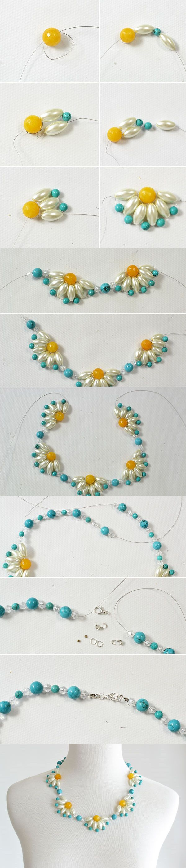 Tutorial - How to DIY a Flower Choker Necklace Step by Step from LC.Pandahall.com #Seed #Bead #Tutorials