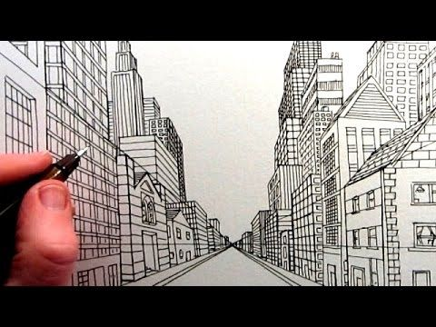 how to draw a one point perspective sharpenener