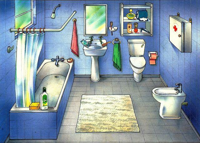 VOCABULARIO Láminas temáticas de expresión oral: El baño https://picasaweb.google.com/MaestrosAyL/LAMINASTEMATICASEXPRESIONORAL