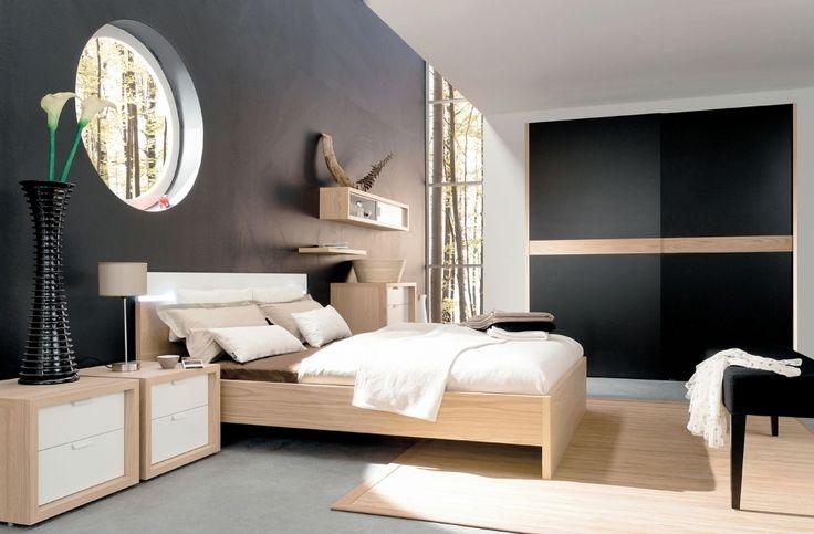 Modernes Haus Wandfarbe Schlafzimmer Trend Schlafzimmer Graue Wand  Wandfarbe Ideen Bilder Roomido Graue | Schlafzimmer Einrichtung | Pinterest