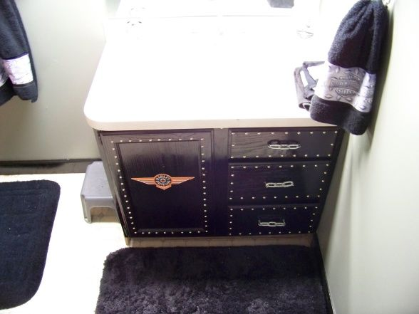 Harley Davidson Decor Ideas Bathrooms Dens | Harley Bathroom, This Small  Bathroom Is Located In