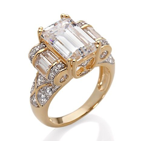 Victoria Wieck 5.1ct Absolute™ Rolling Baguettes Ring