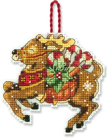 Reindeer (Christmas Ornament) - Cross Stitch Kit