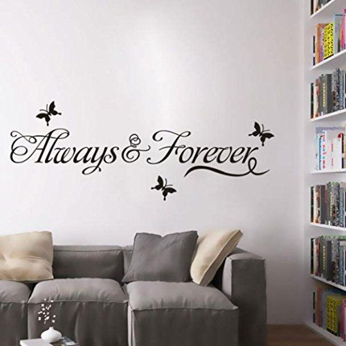 $2.99   Ussore Always Forever Butterfly Removable Wall Stickers Imitation  Water Home Art Decal Mural Home Part 89