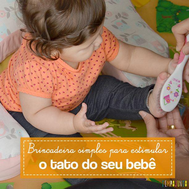 As sensações táteis do bebê podem ser amplificadas com brincadeiras divertidas e materiais simples que encontramos em casa
