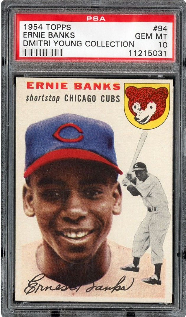 The 20 Most Expensive Sports Cards Of All Time Ernie Banks Chicago Cubs Baseball Cards