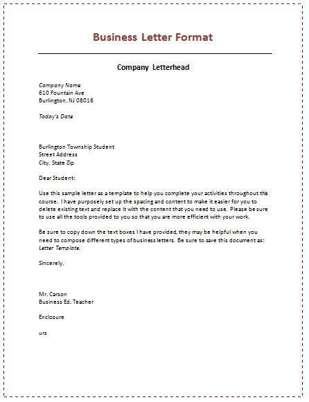 Business Letters Business Letter Template  General Category Pix