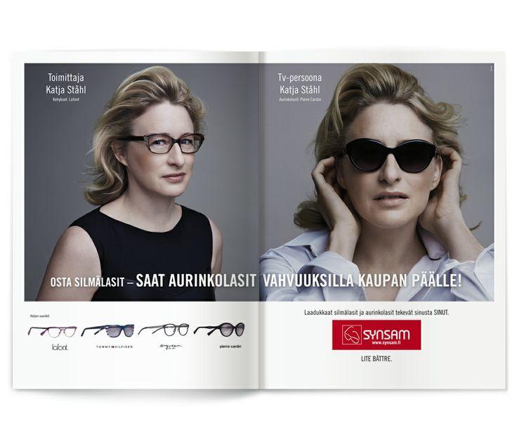Laadukkaat silmälasit ja aurinkolasit tekevät sinusta SINUT, tietää myös Katja Ståhl. / Synsam