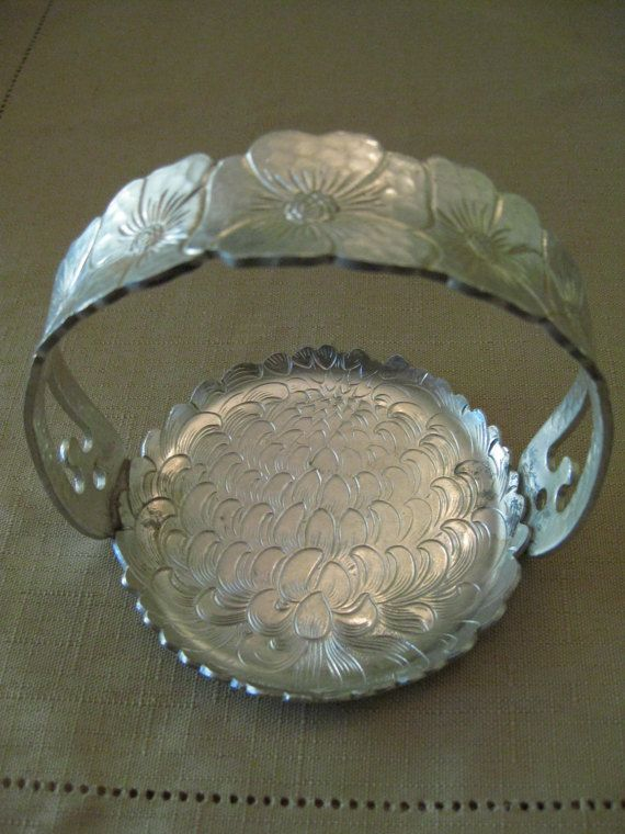 Vintage Continental Silver Co Inc Etched by vtseredipityboutique