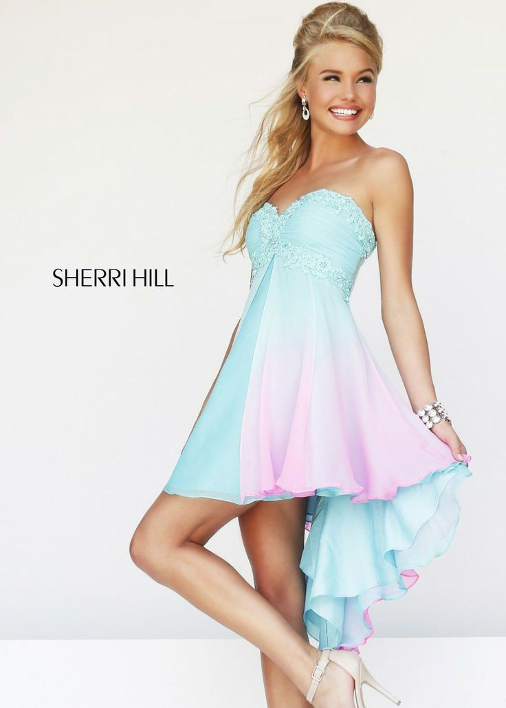Ombre Dresses Prom Low High 6