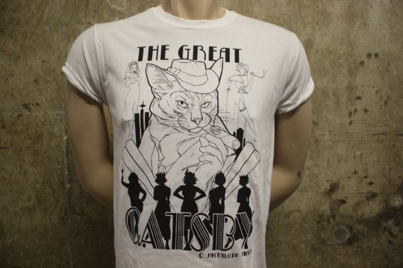 the great catsby cat kitten cats  exclusive by jackalopeclothing, £9.99