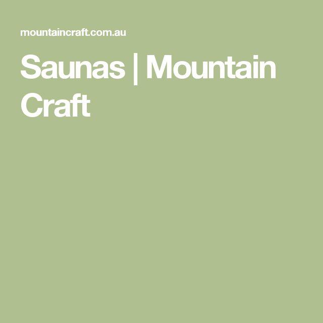 Saunas | Mountain Craft
