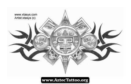 Aztec Wings Tattoo Designs 04 - http://aztectattoo.org/aztec-wings-tattoo-designs-04/
