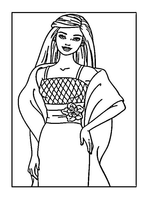 barbie 47 dibujos faciles para dibujar para niños