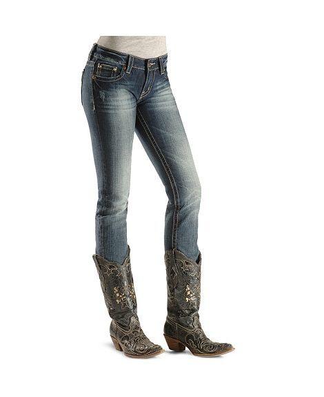 Miss Me Jeans     Miss Me Jeans - Emebellished Pocket Skinny Jeans