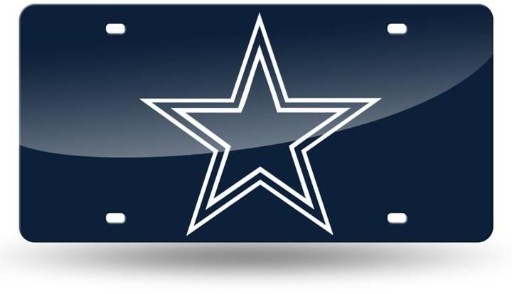 $29.99 - Football Fan Shop Laser-Engraved Blue License Plate - Dallas Cowboys - Laser-Engraved Blue License Plate — Dallas Cowboys Show your team spirit wherever you go. Cruising around town, rooting for the home team, it's all the same with this novelty license plate.