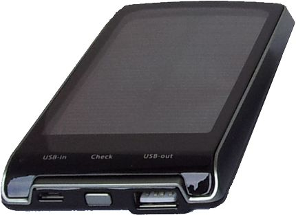 portable solar powered back up battery for charging USB devices, Phone, Tablet
