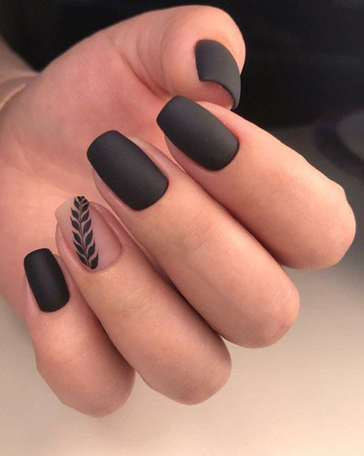 30+ Trendy Matte Black Nails Designs Inspirationen – Beauty – #Beauty #Black # …